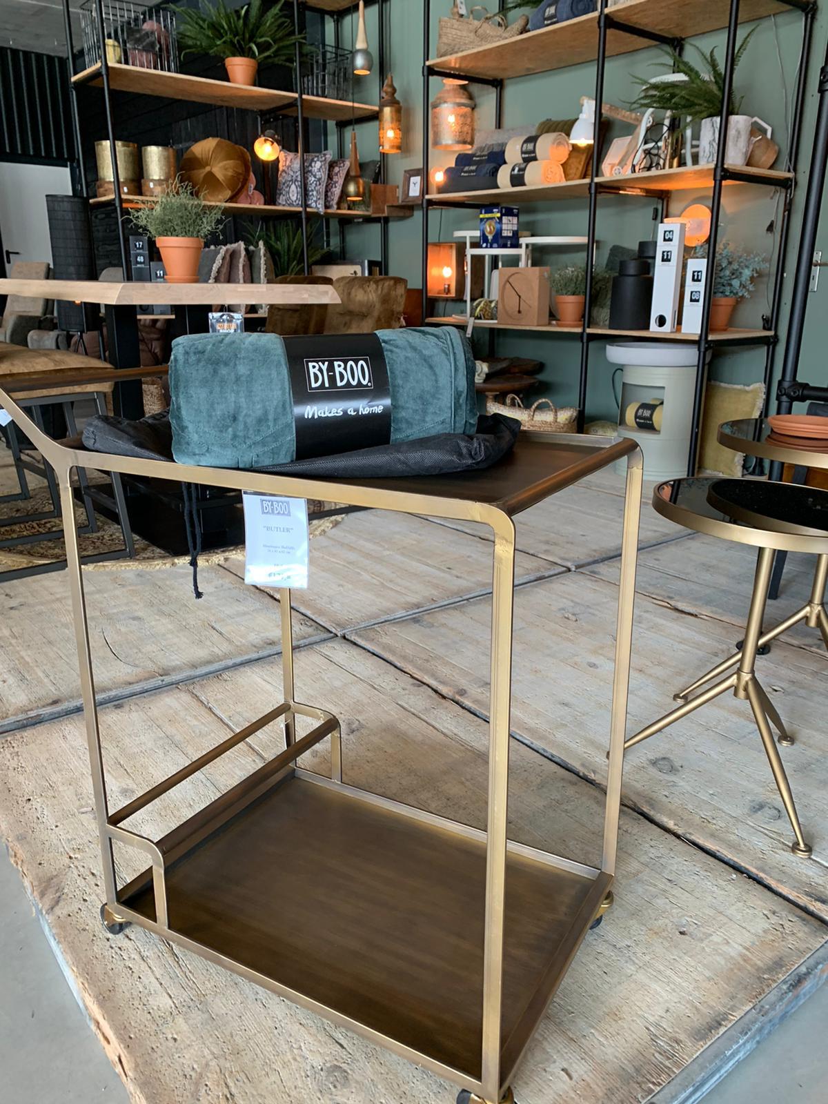 by boo trolley goud meubelshop emmen showroom