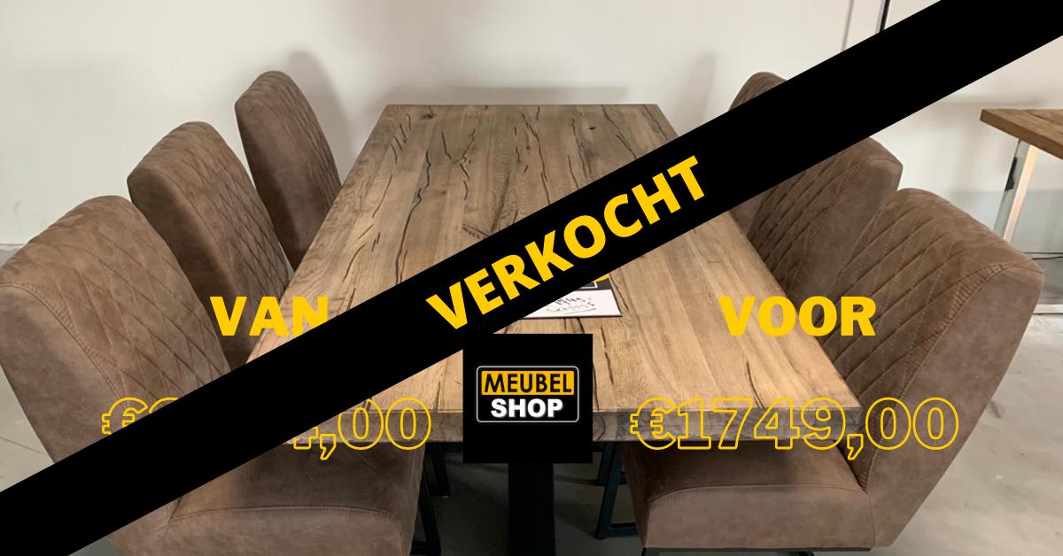 verkocht Set eettafel en stoelen