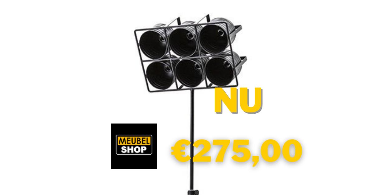BY-BOO Vloerlamp Minack zwart large